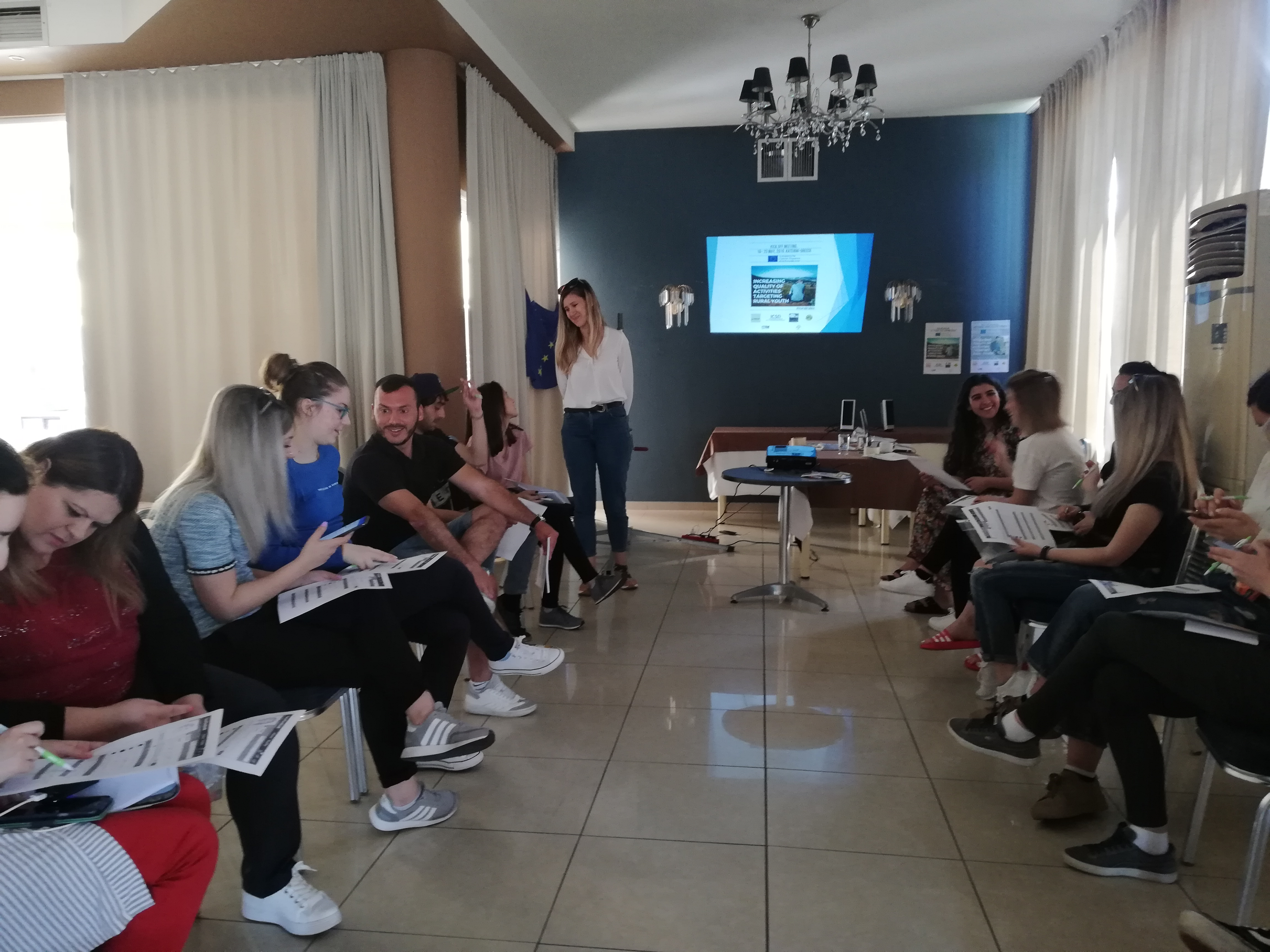 Increasing Quality Of Activities Targeting Rural Youth, Kick Off Meeting Is  Implementing In Paralia, Greece 16-22 May 2019